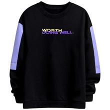 Sweatshirt mit Farbblock und Buchstaben Grafik