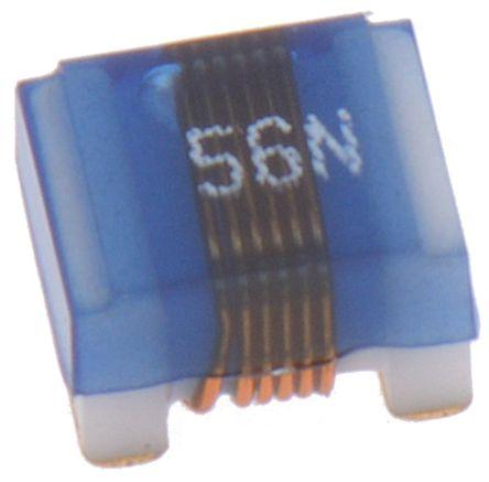 Wurth Elektronik Wurth, WE-KI, 1008A Shielded Wire-wound SMD Inductor with a Ceramic Core, 56 nH Wire-Wound 1A Idc Q:60 (10)