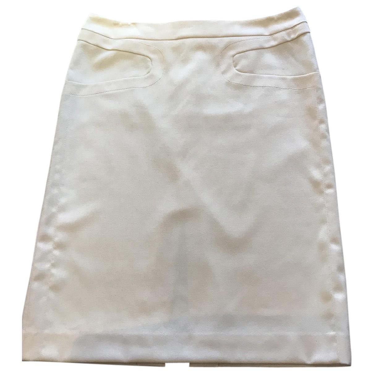 Versace N Beige Wool skirt for Women 44 IT