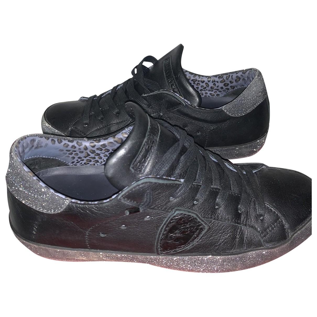 Philippe Model \N Sneakers in  Schwarz Leder