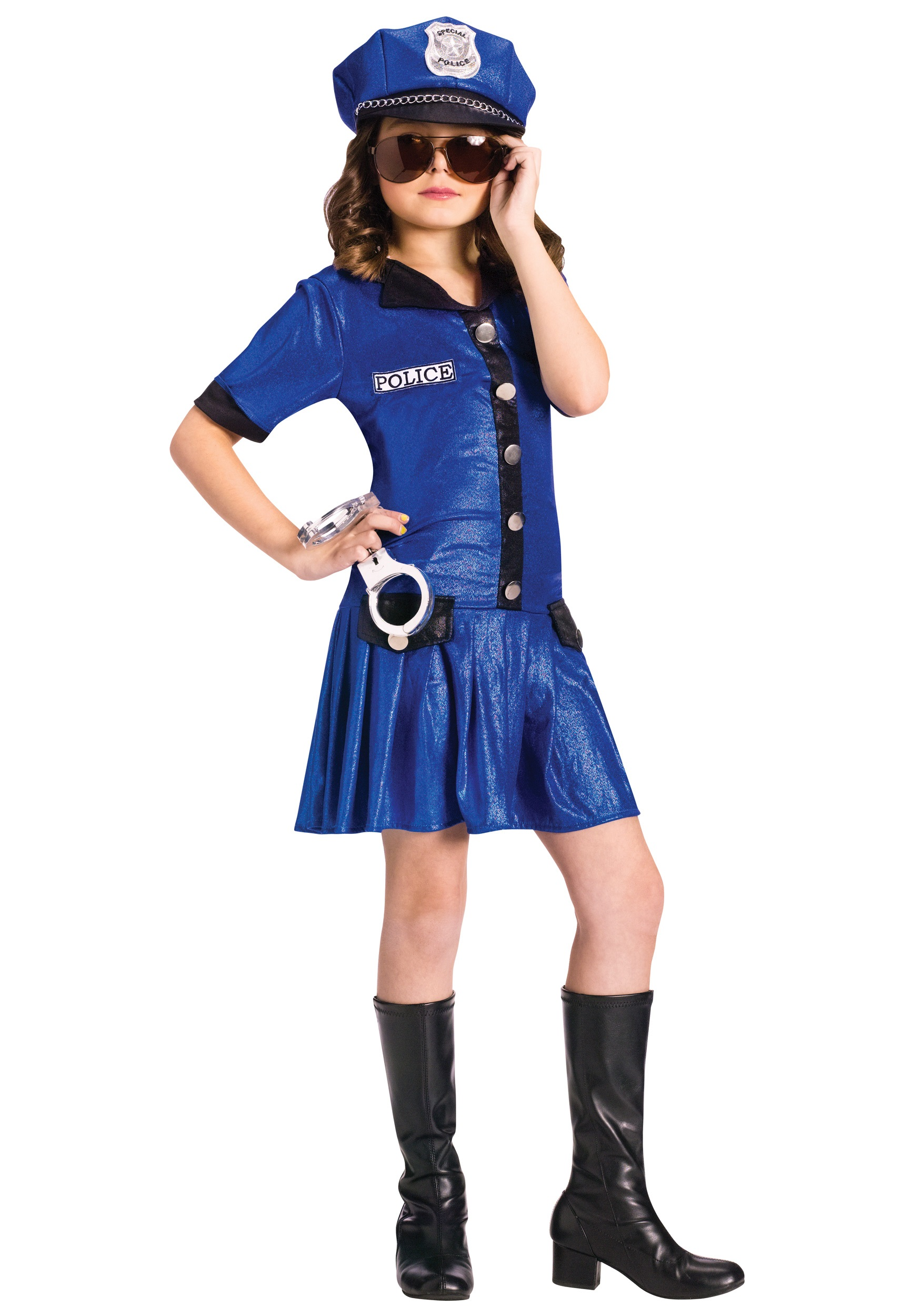 Girls Sassy Police Officer Costume