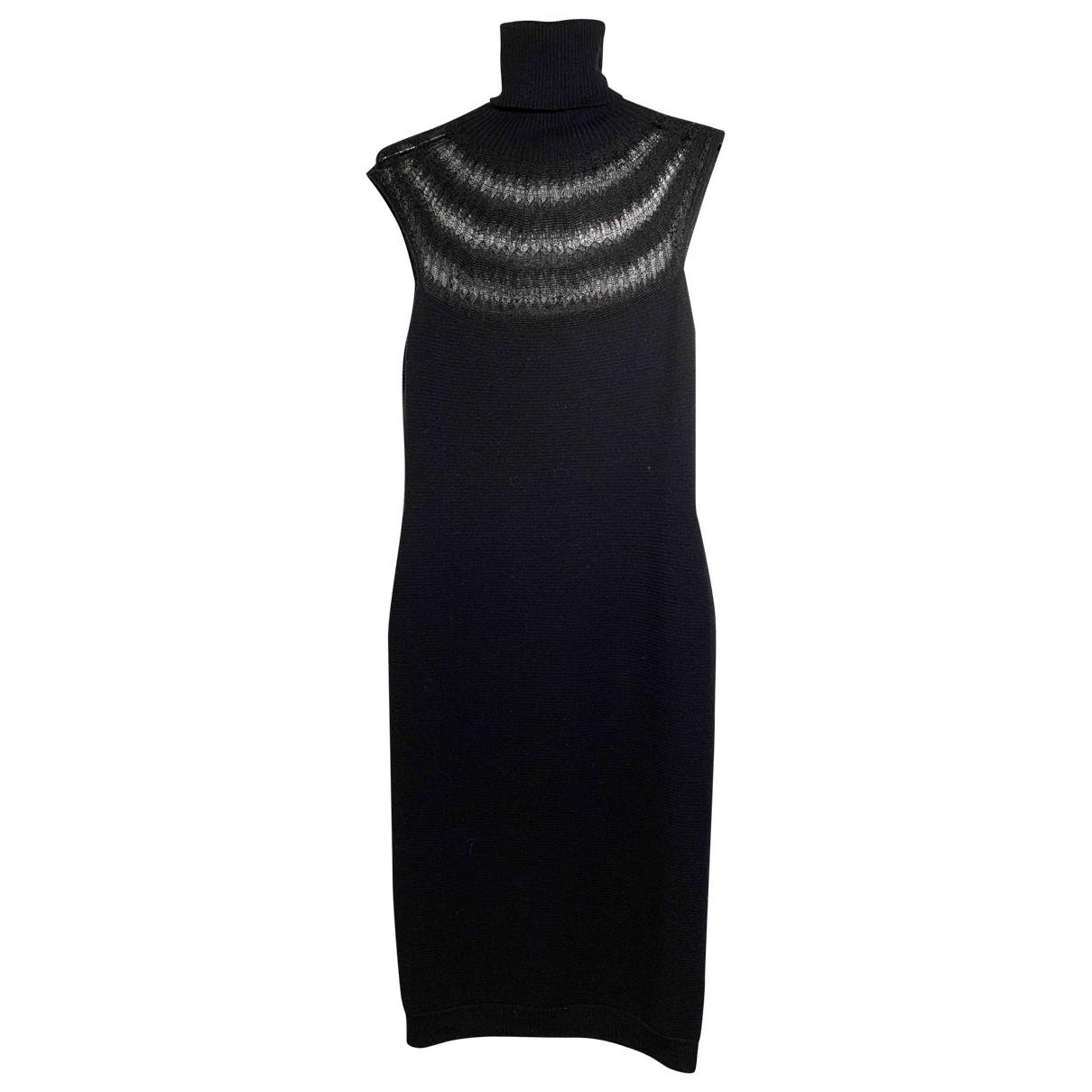 Emporio Armani \N Kleid in  Schwarz Wolle