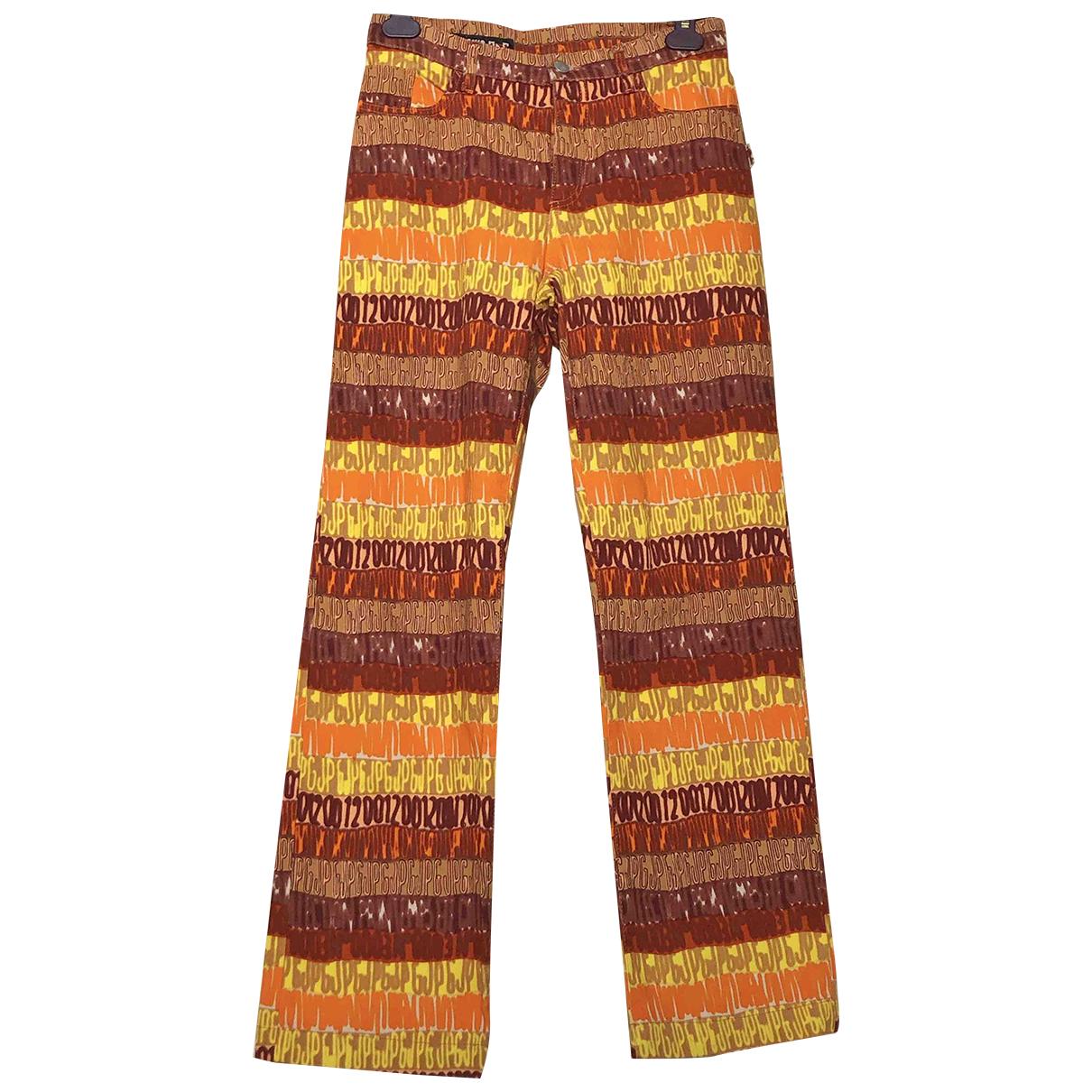 Jean Paul Gaultier \N Yellow Denim - Jeans Trousers for Men S International