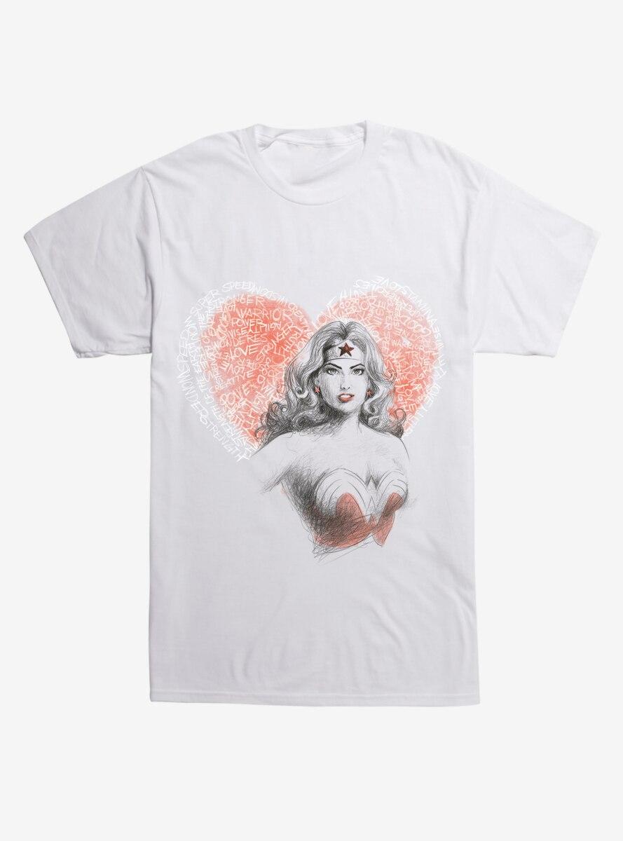 DC Comics Wonderwoman Heart T-Shirt