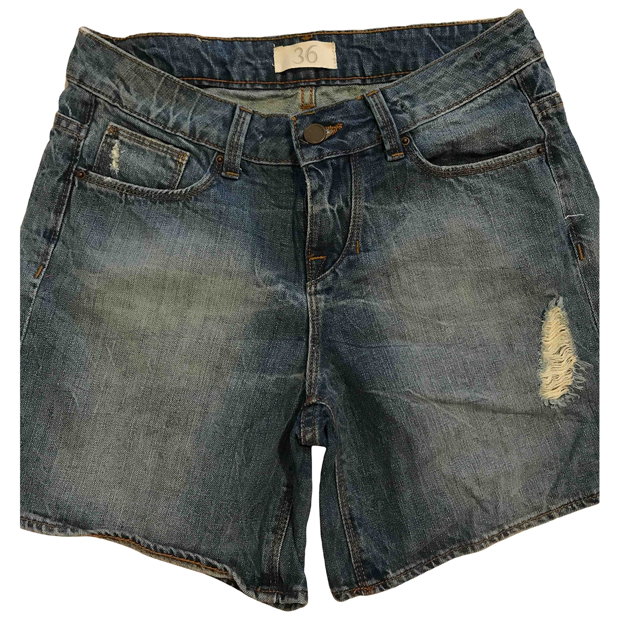 Zara \N Shorts in  Blau Denim - Jeans