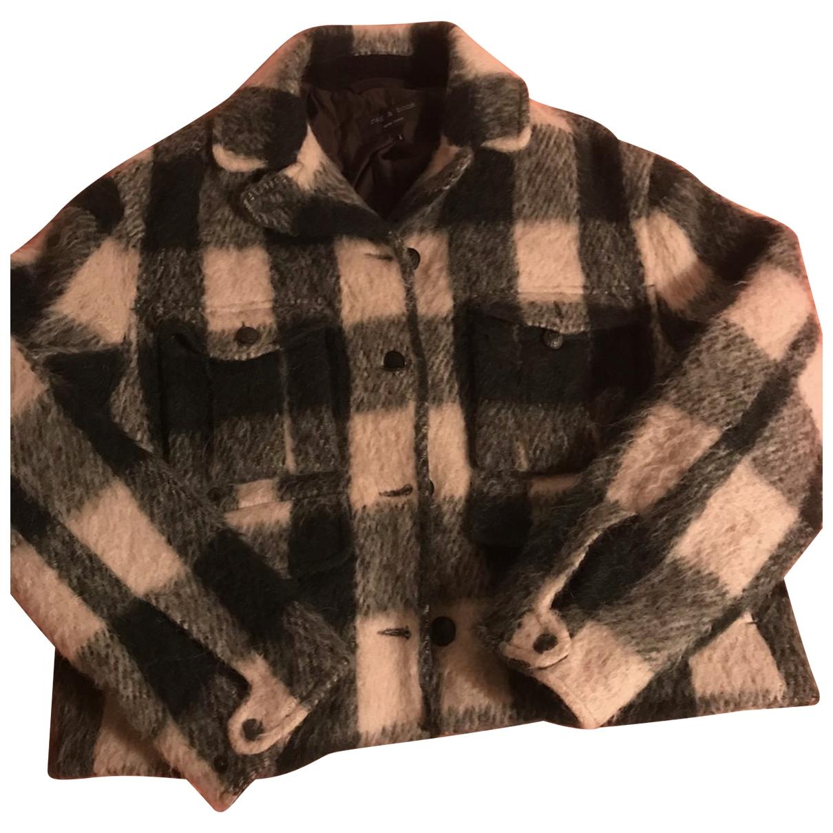 Rag & Bone - Manteau   pour femme en laine - vert
