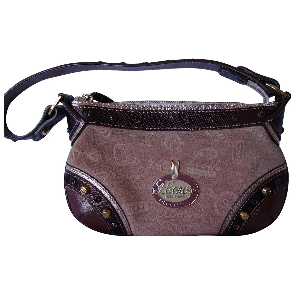 Loewe \N Pink Suede Clutch bag for Women \N