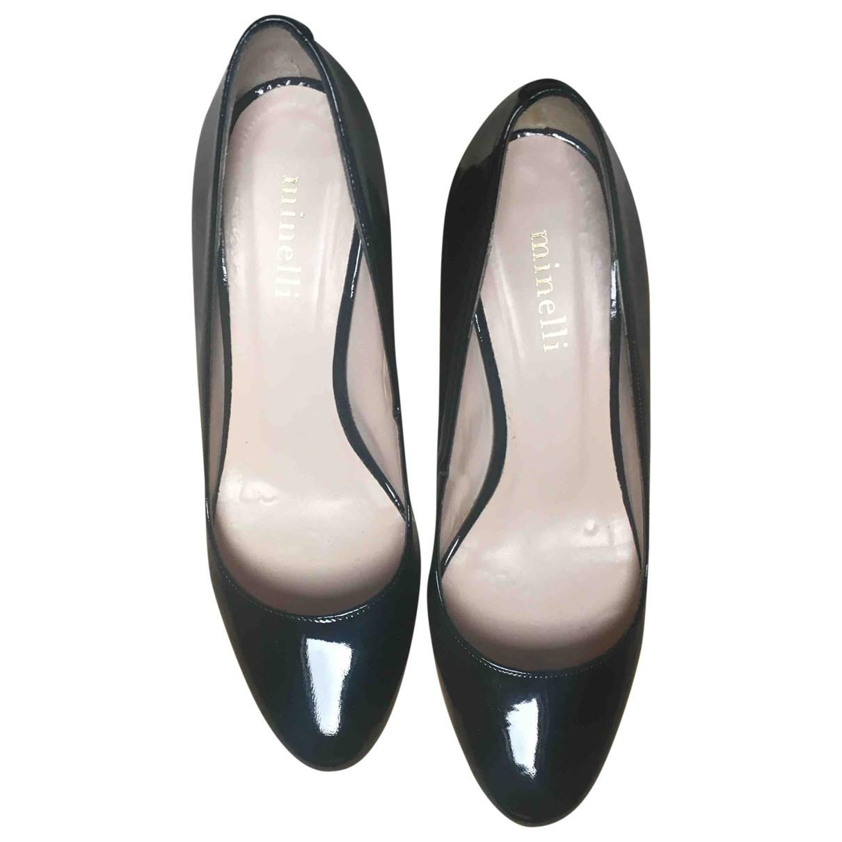 Minelli \N Black Patent leather Heels for Women 38 EU