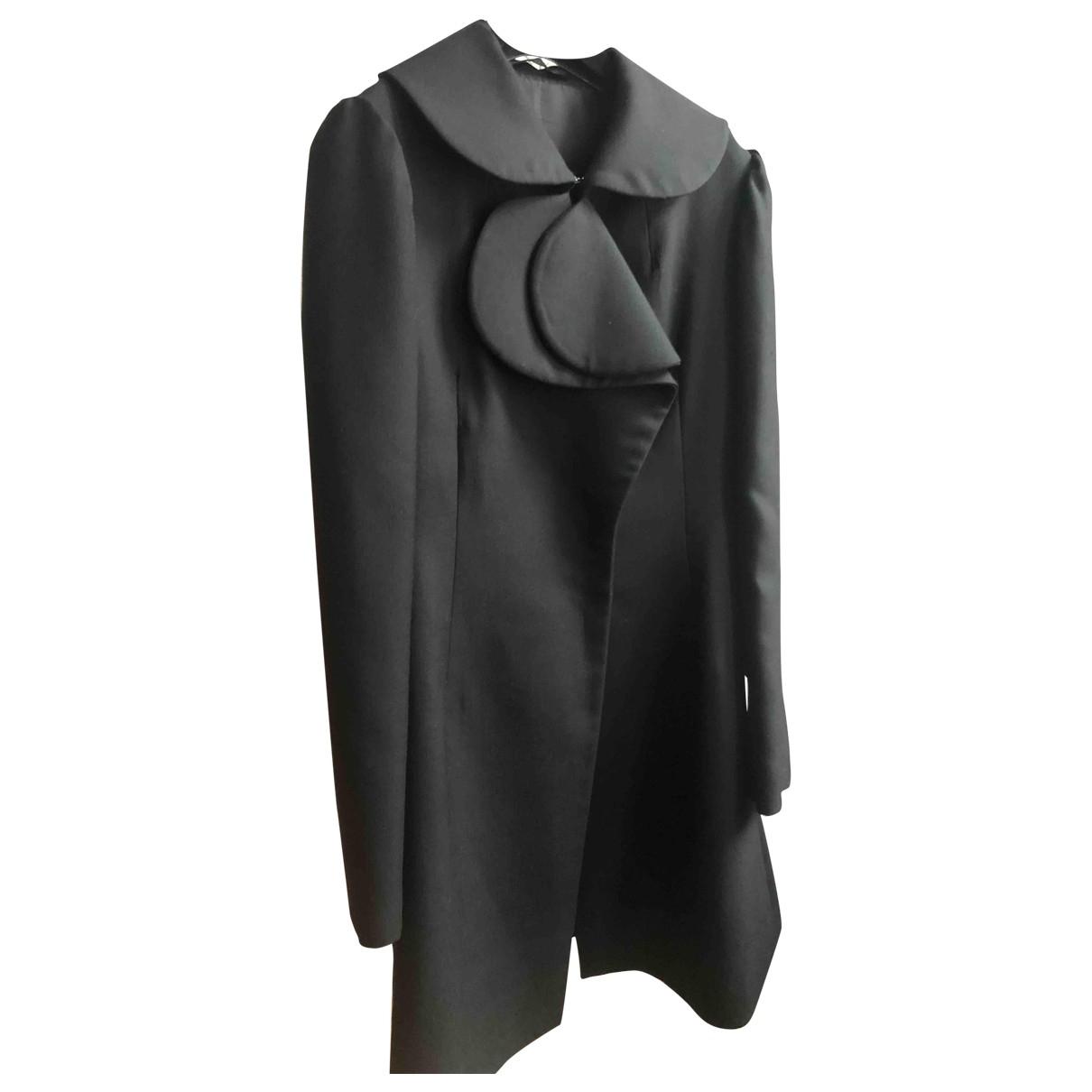 Yohji Yamamoto \N Maentel in  Schwarz Wolle