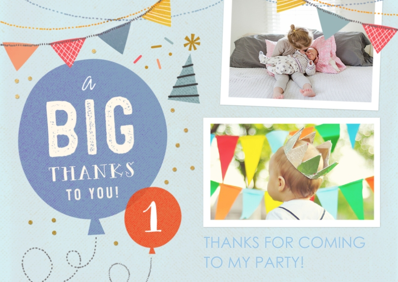 Kids Thank You Cards 5x7 Cards, Standard Cardstock 85lb, Card & Stationery -So Much Fun Turning One - Thank You
