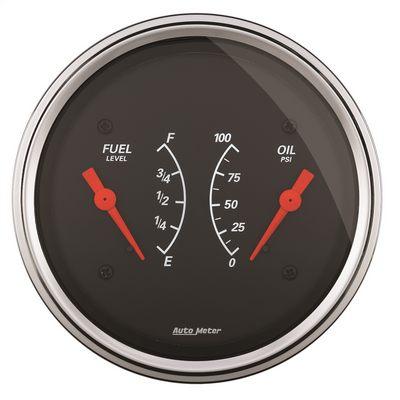Auto Meter Designer Black Oil/Fuel Dual Gauge - 1434