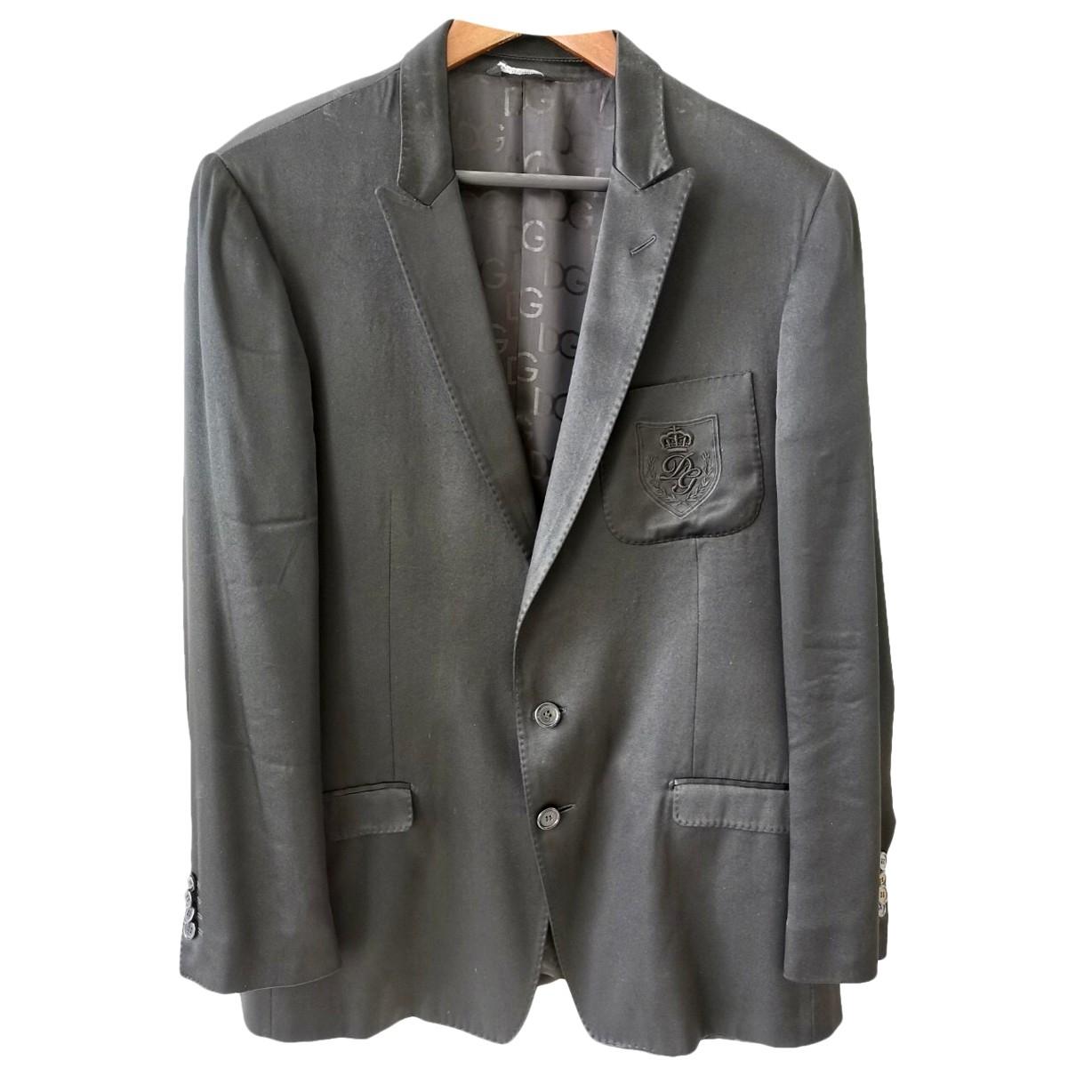 Dolce & Gabbana \N Black Silk Suits for Men 50 FR