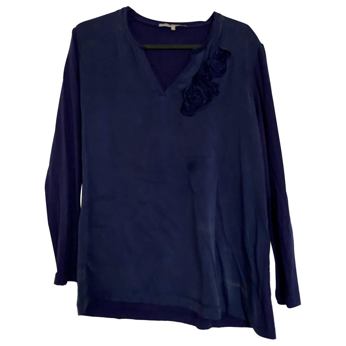 Gerard Darel - Top   pour femme en soie - bleu