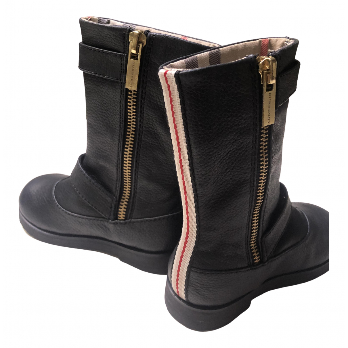 Burberry \N Black Leather Boots for Kids 23 FR
