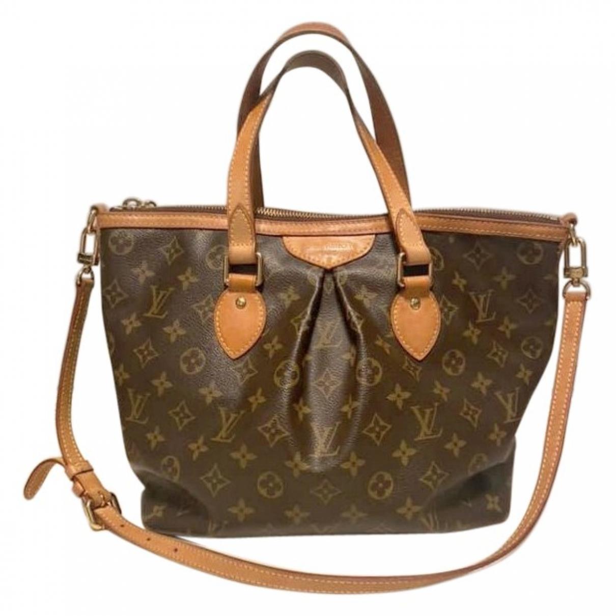 Louis Vuitton Palermo Brown Cloth handbag for Women \N