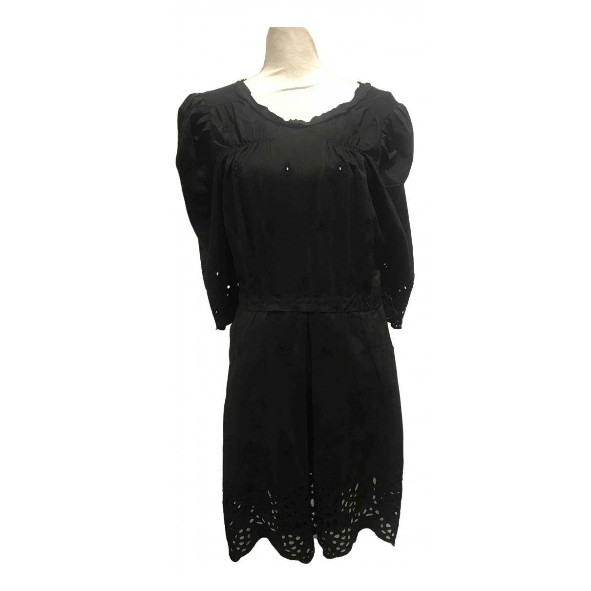 Munthe Plus Simonsen \N Kleid in  Schwarz Seide