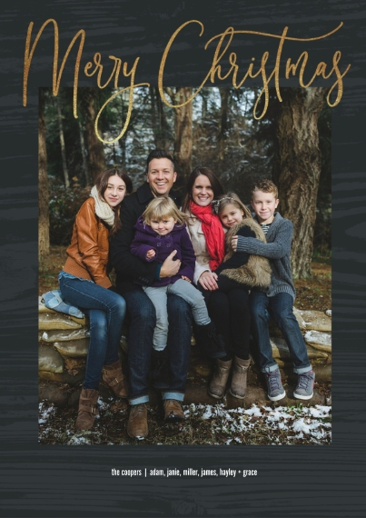 Christmas Photo Cards 5x7 Cards, Premium Cardstock 120lb with Rounded Corners, Card & Stationery -Beautiful Script