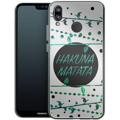 Huawei P20 Lite Silikon Handyhuelle - Hakuna Matata von Statements