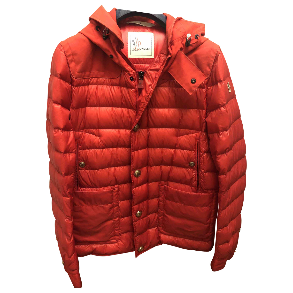 Moncler Grenoble Red Cotton jacket  for Men L International