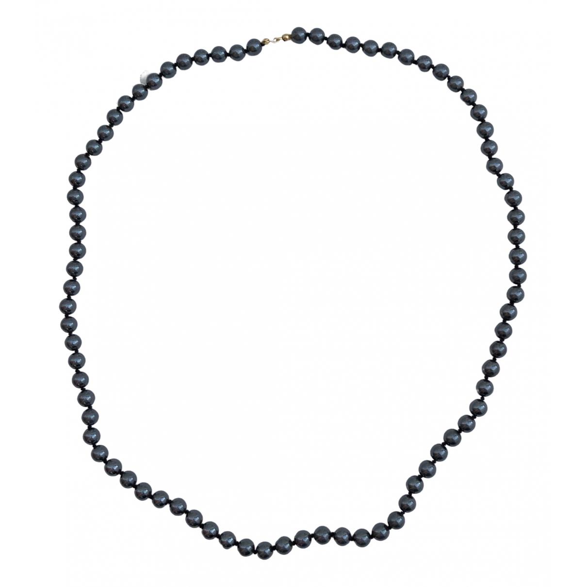- Sautoir   pour femme en perles - gris