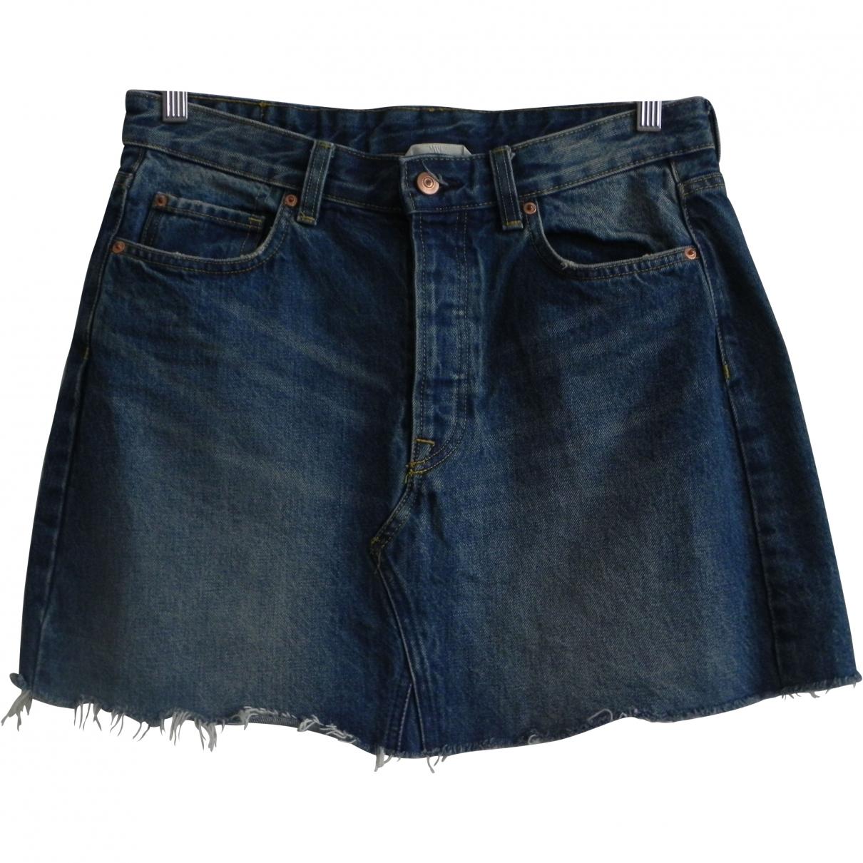 Non Signé / Unsigned \N Blue Denim - Jeans skirt for Women 40 FR