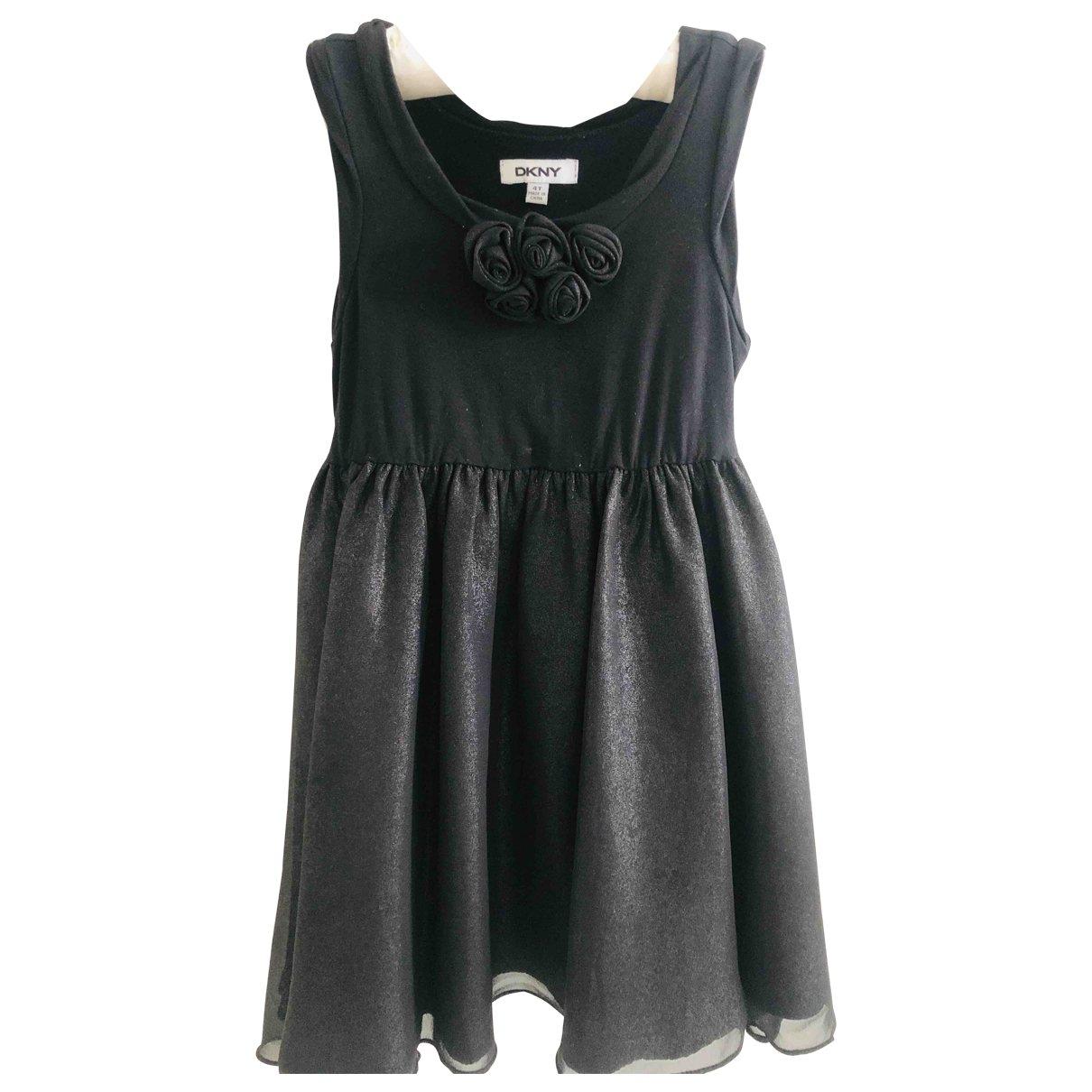Dkny - Robe    pour enfant en coton - elasthane - noir