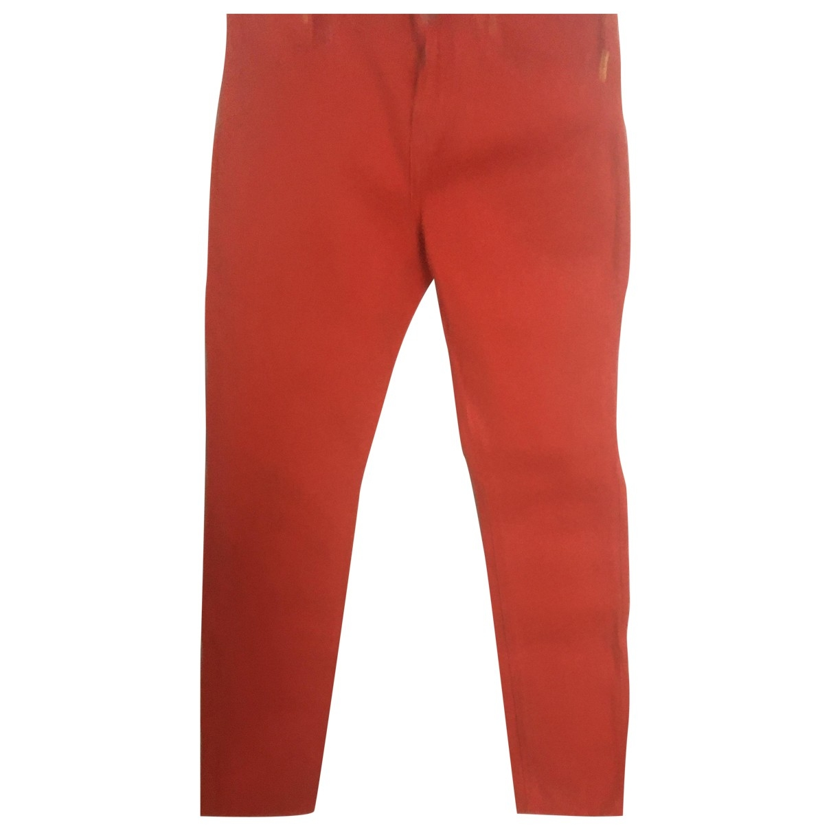 Zara \N Hose in  Orange Baumwolle