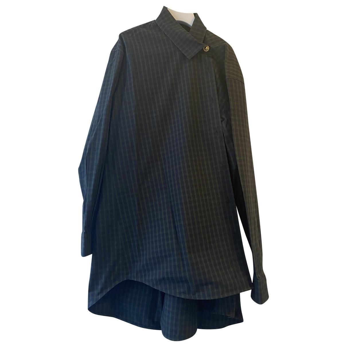 Balenciaga - Top   pour femme en coton - marine