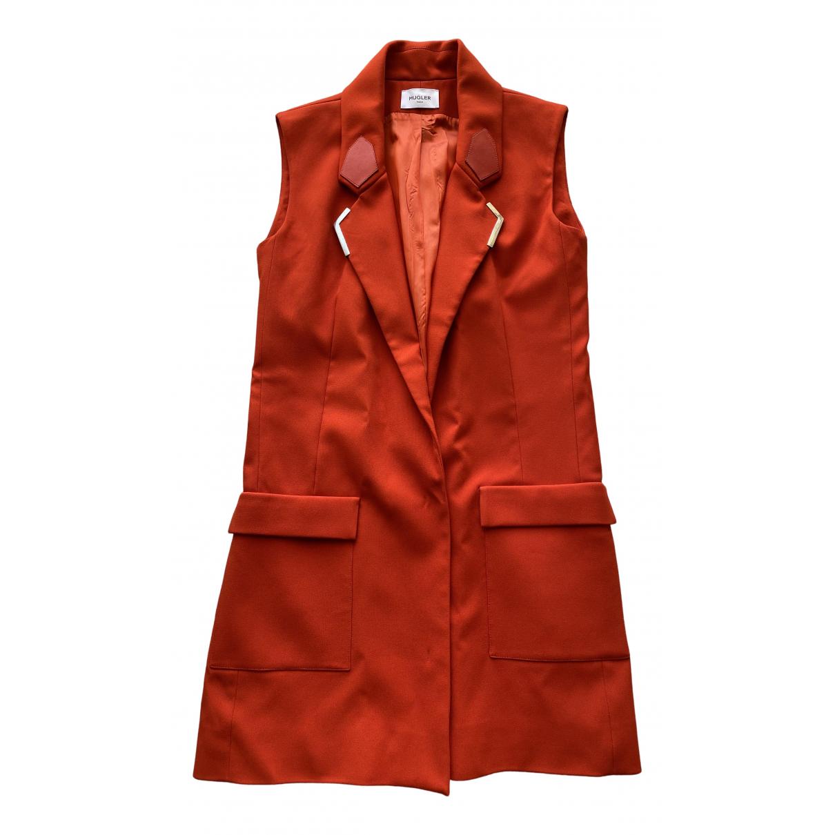 Mugler \N Kleid in  Orange Synthetik