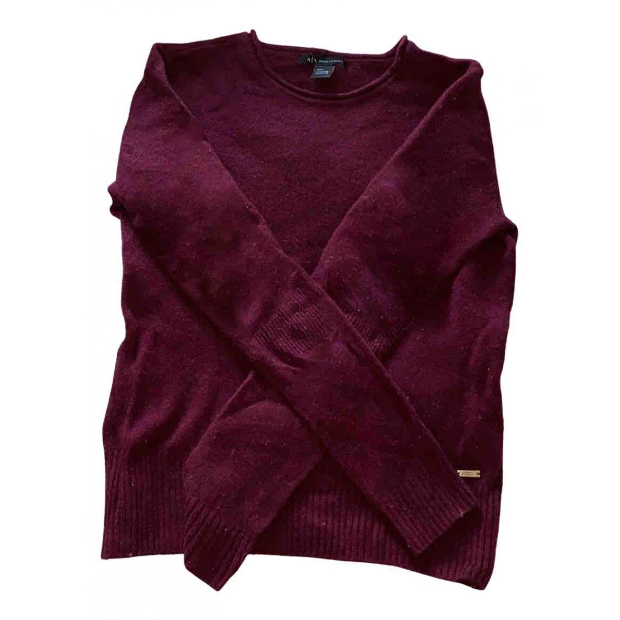 Emporio Armani \N Burgundy Cashmere Knitwear for Women 36 FR