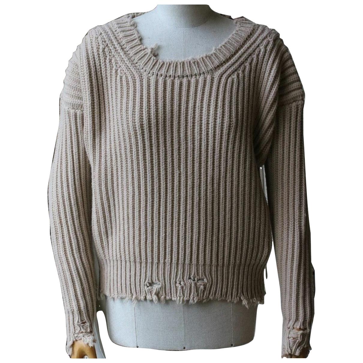 Unravel Project - Pull   pour femme en laine - beige