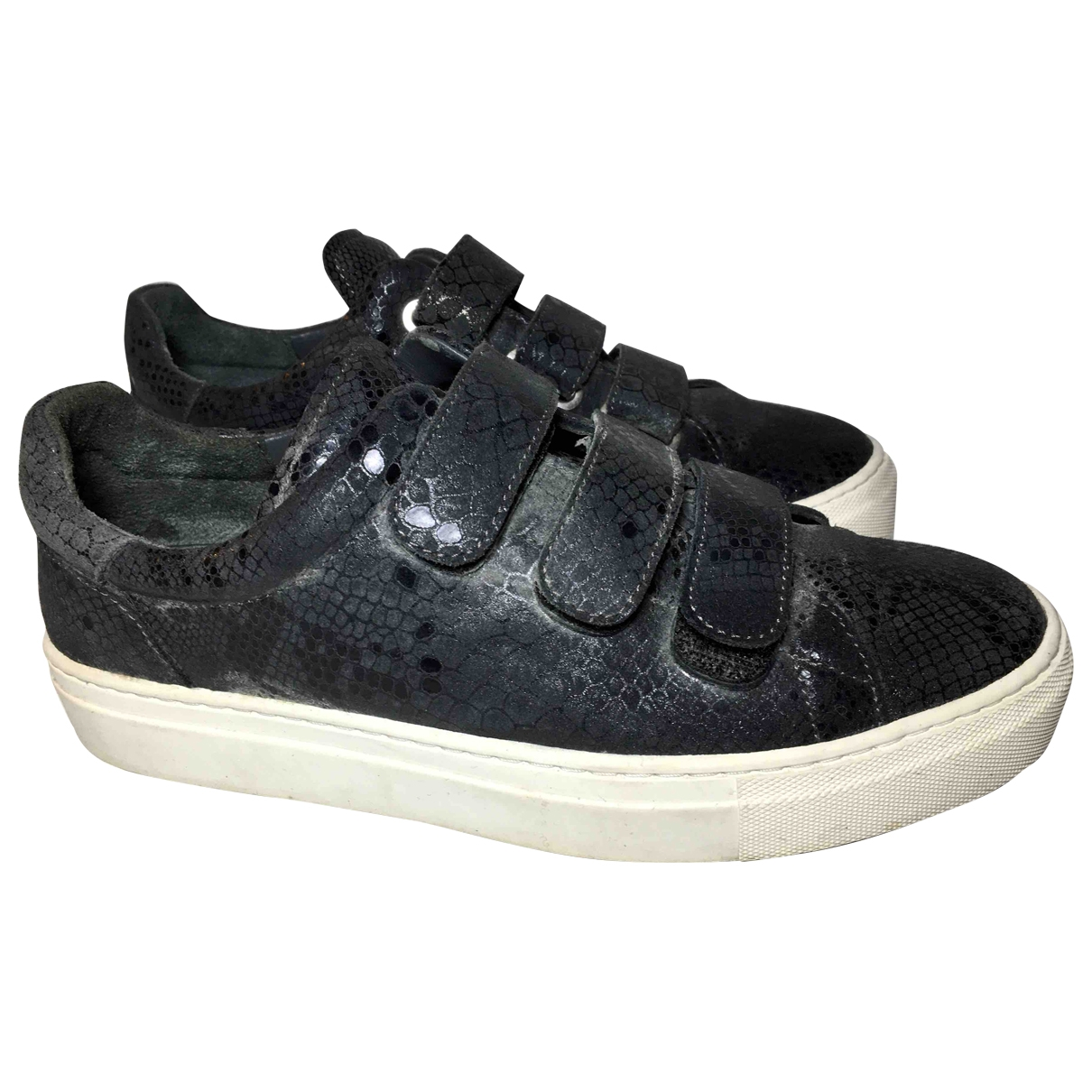 Non Signe / Unsigned \N Sneakers in  Grau Leder