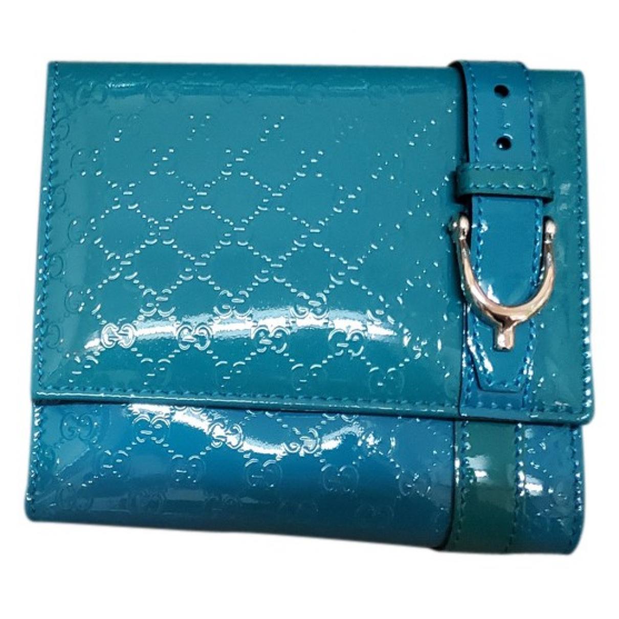 Gucci - Portefeuille   pour femme en cuir verni - vert