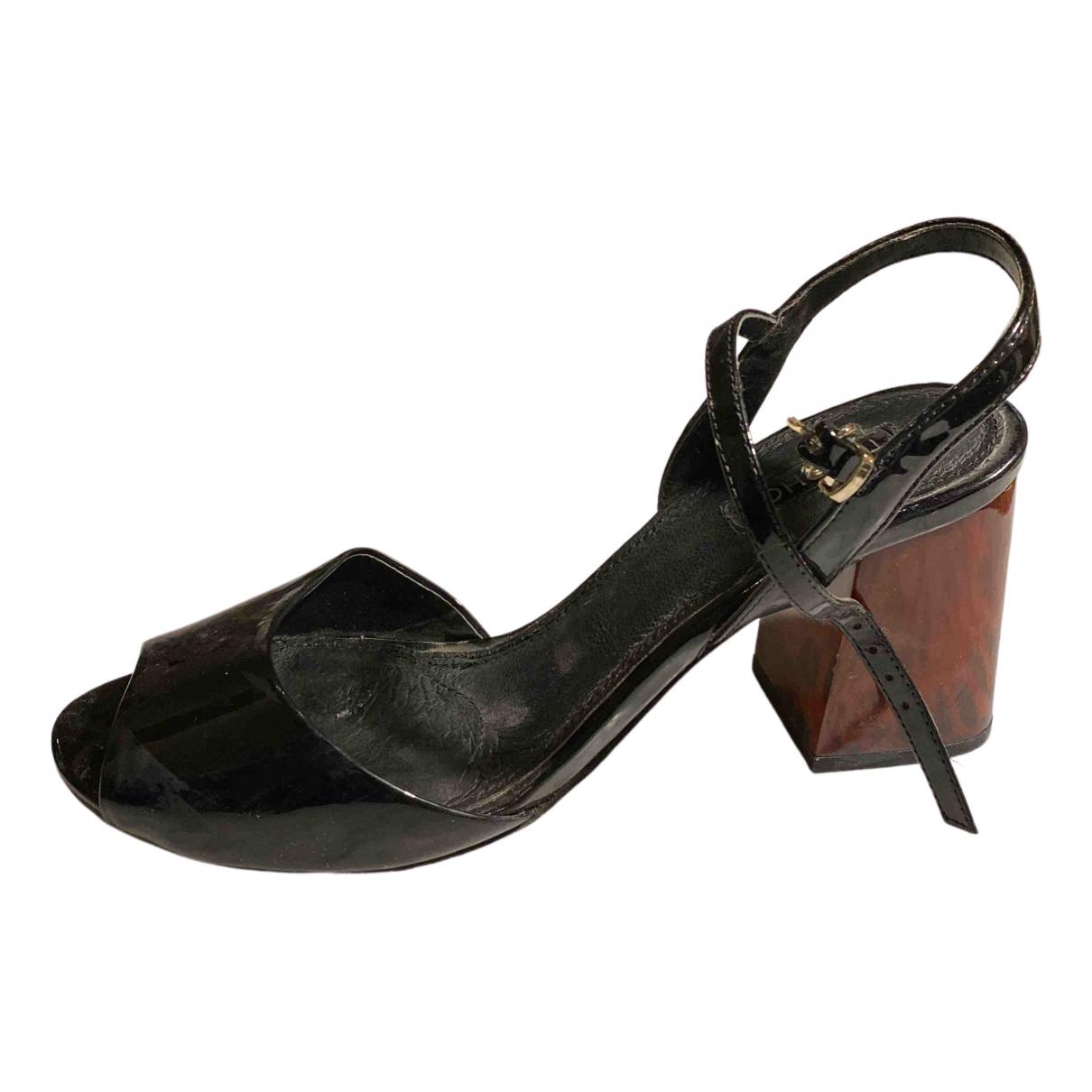 Tophop \N Sandalen in  Schwarz Lackleder