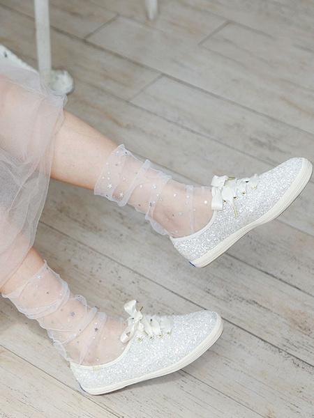 Milanoo Sweet Lolita Socks Stars Print Lolita Accessories Loose Socks