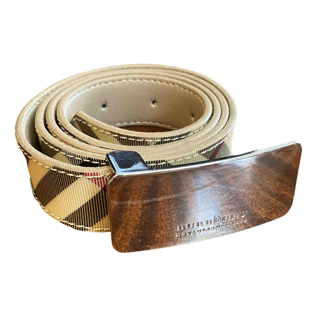 Burberry \N Beige Cloth belt for Women 100 cm