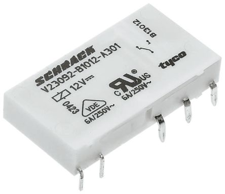TE Connectivity , 24V dc Coil Non-Latching Relay SPDT, 6A Switching Current PCB Mount Single Pole