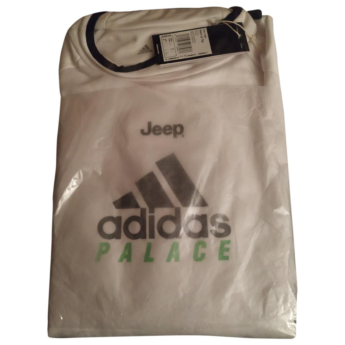 Palace X Adidas - Tee shirts   pour homme en coton - blanc