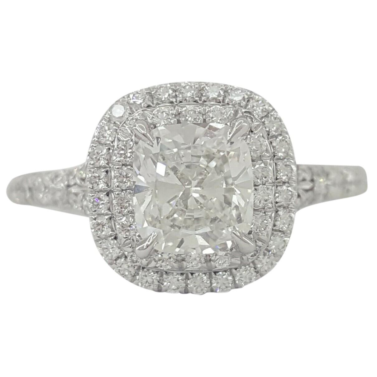 Tiffany & Co - Bague Tiffany Soleste pour femme en platine - blanc
