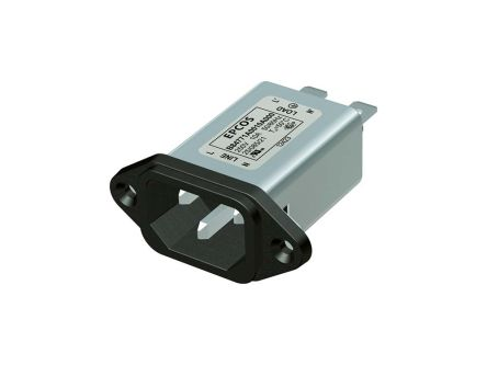 EPCOS ,15A,250 V ac/dc Male Snap-In IEC Filter B84771A3015A000,Tab