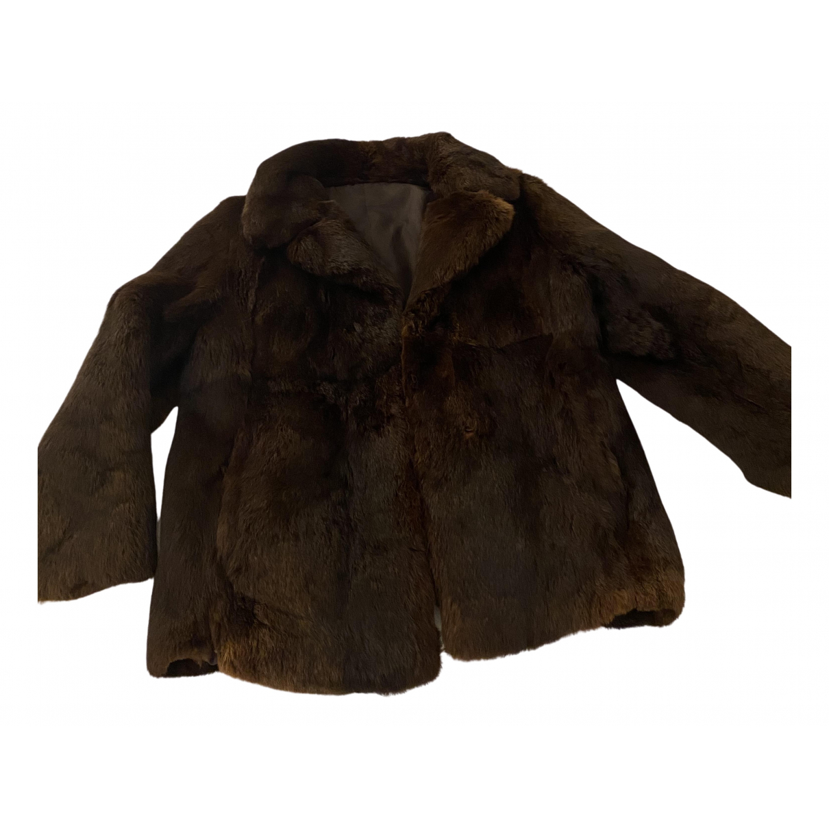 - Manteau   pour femme en lapin - marron