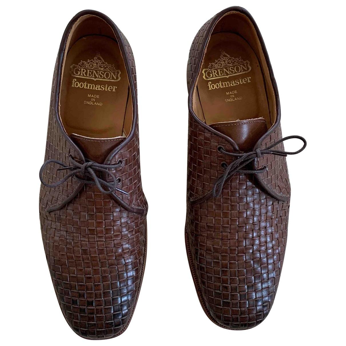 Grenson - Derbies   pour homme en cuir - marron