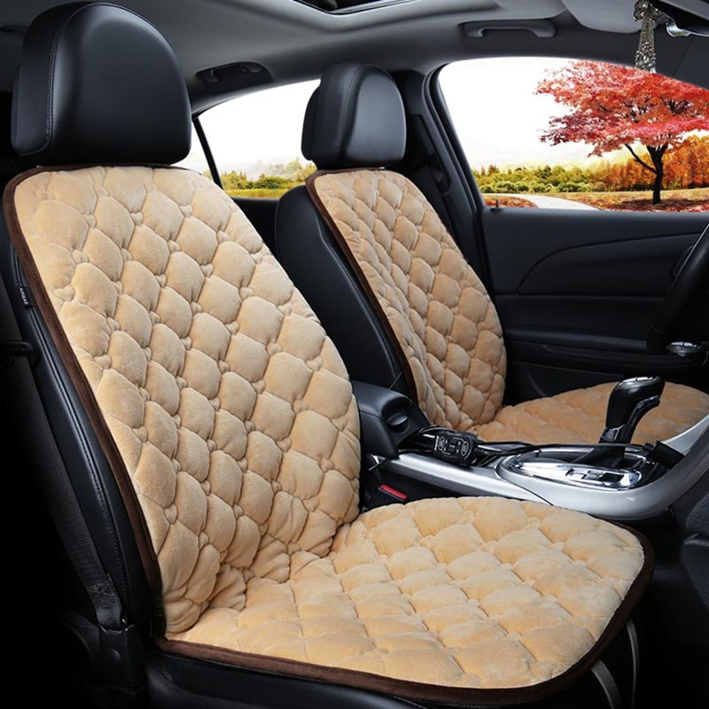 Suede Material Rapid Heating In 30 Seconds Safe And Efficient Convenient Installation Universal 1 Front Heating Seat Cover