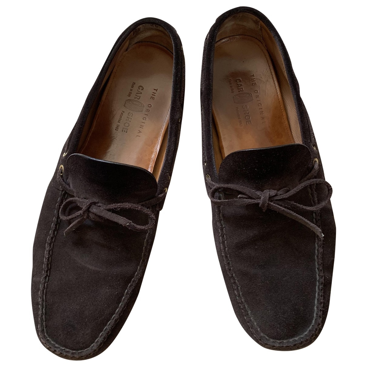 Carshoe \N Brown Suede Flats for Men 11 UK