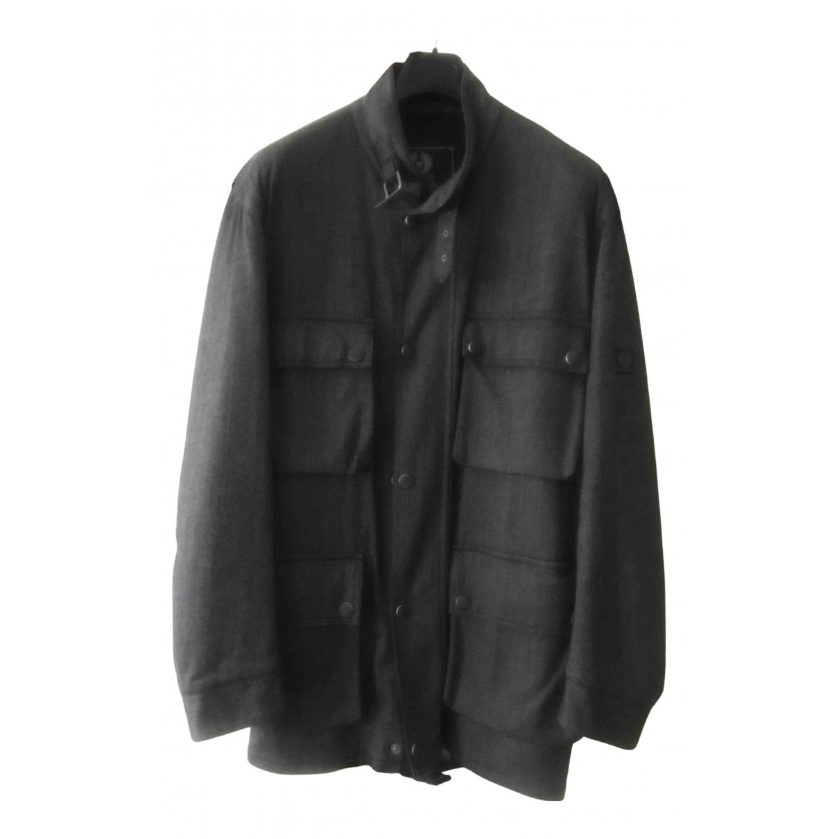 Belstaff - Manteau   pour homme en laine - anthracite