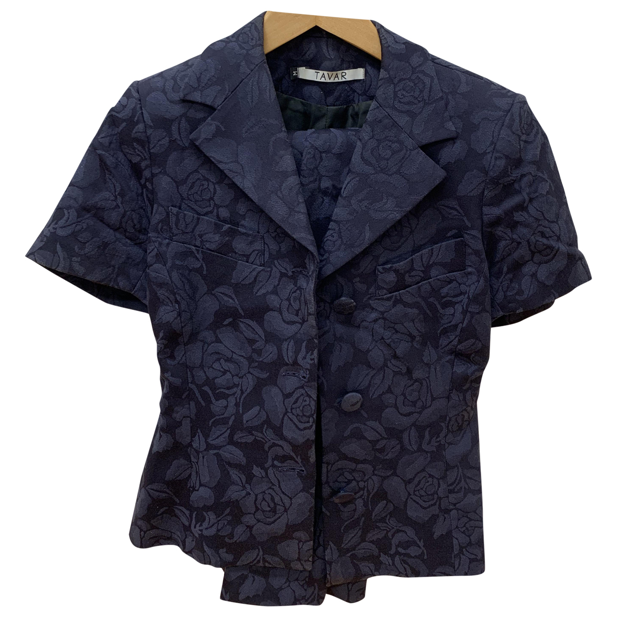 Non Signé / Unsigned \N Blue Cotton jacket for Women 34 FR