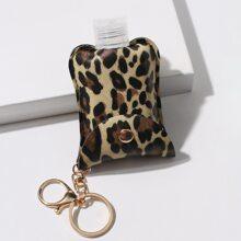 Llavero con patron de leopardo