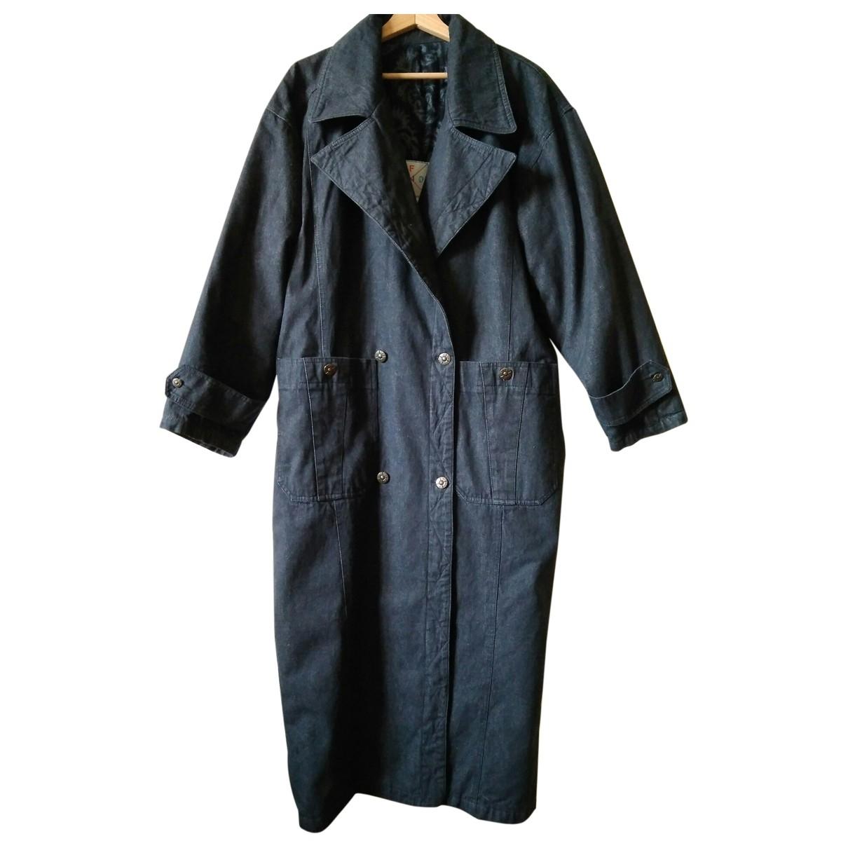 Fendi \N Grey Cotton coat for Women 42 IT