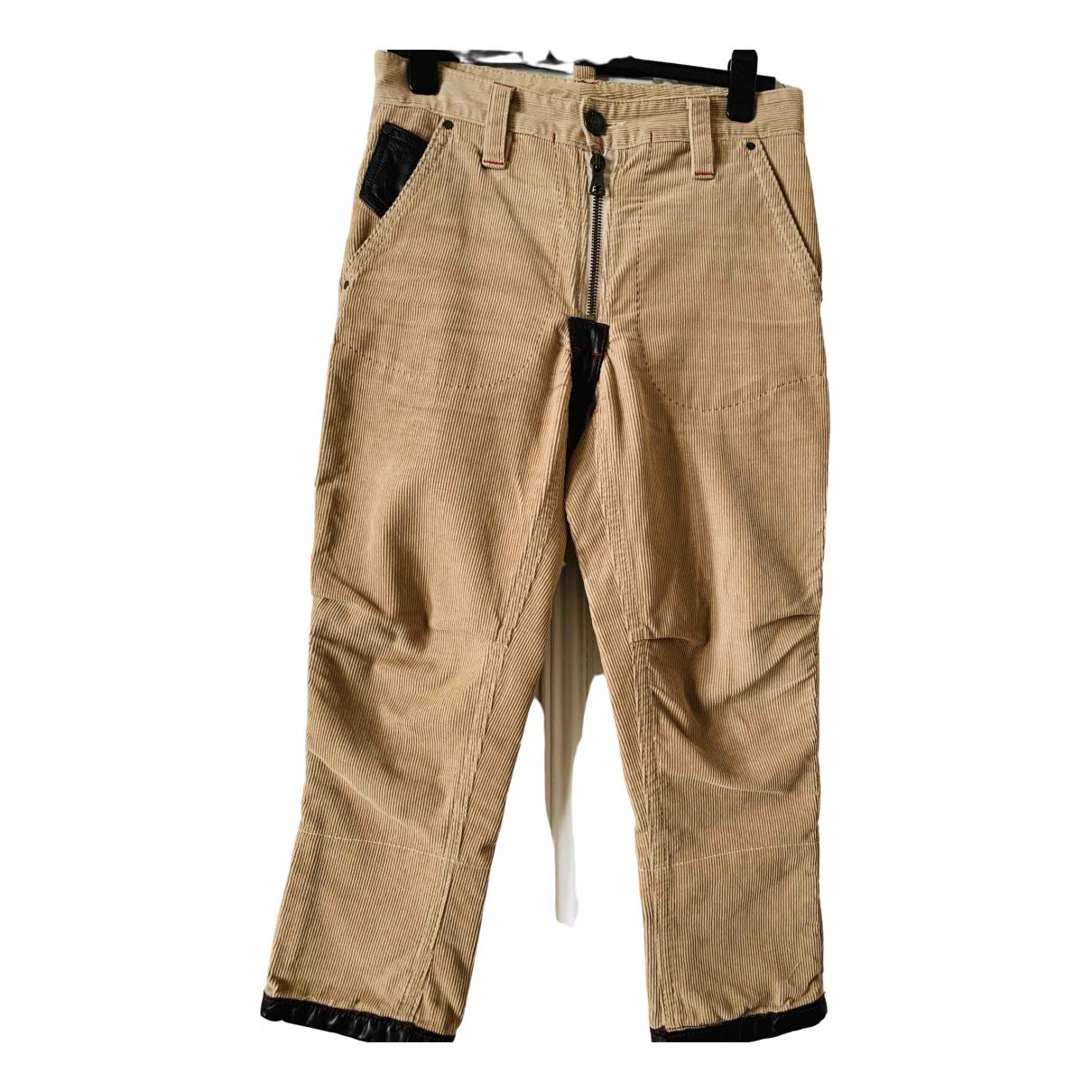 Pantalon en Algodon Beige Dsquared2