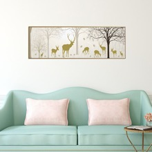 Deer Print Wall Painting Without Frame